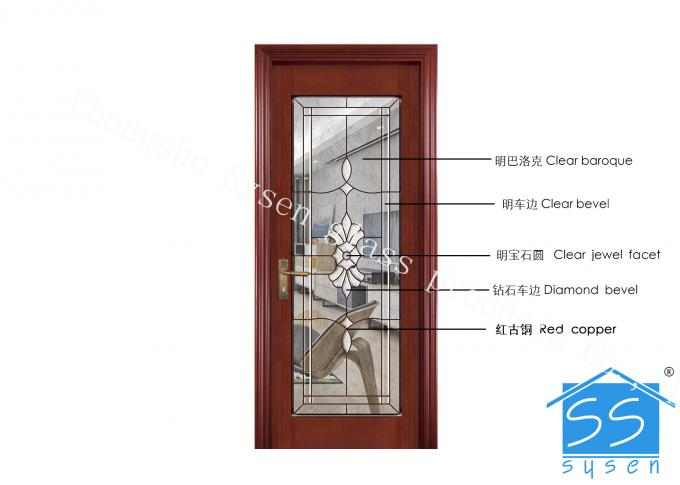 Security Tempered Glass Panels , Architectural Decorative Door Glass Panels