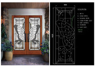 Double Tempered Privacy Glass Slider Doors For Home Decor IGCC IGMA Certification